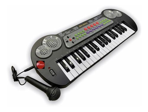 Teclado Piano Com Microfone Infantil A Pilha E Força
