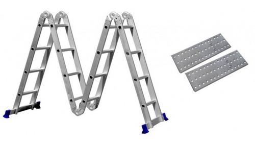Escada Articulada 16 Degraus 4x4 Multifuncional Com