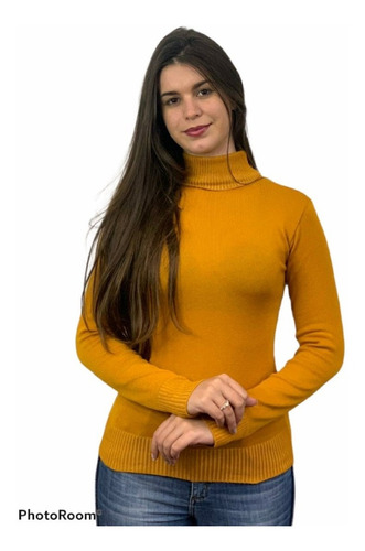 Blusa Cacharrel Feminina Lã Trico Tricot Gola Alta Atacado