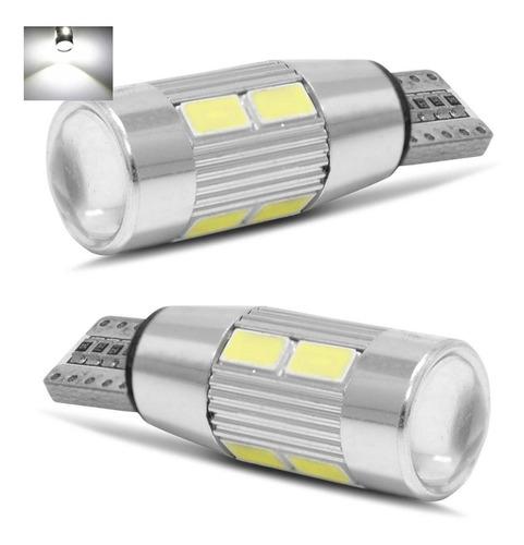 Kit 2 Lampada T10 Cambus 10 Led W5w Branco Canceller 12v