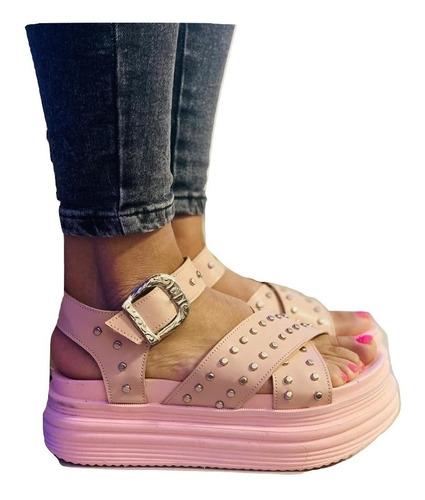 Zapato Sandalia Alta Plataforma Mujer Verano Moda  - Sunset