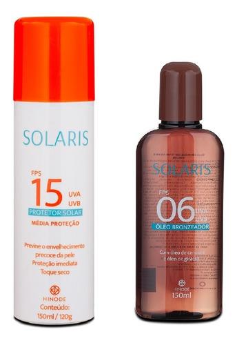 Set Protector Solar Solaris + Aceite Bronceador - Hinode