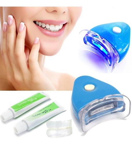 Kit Blanqueador Dental Lámpara Ultra Violeta Dientes Blancos
