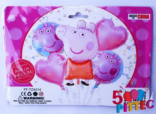 Globo Set Peppa Pig 5pc 80x49cm