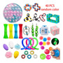 Pop It Fidget Toy 40pc, Push Pop Bubble Fidget Sensory Toy