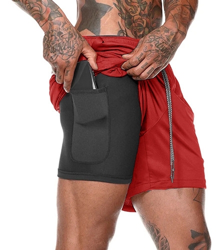 Shorts Esporte Hip Fitness Masculino 2 Em 1