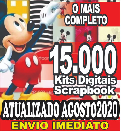15.000 Kits De Papel Scrapbook Digital Envio Grátis  5 Min
