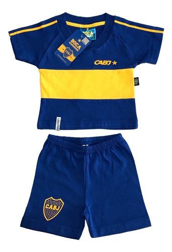 Conjunto Camiseta Retro Bebe Boca Juniors Producto Oficial