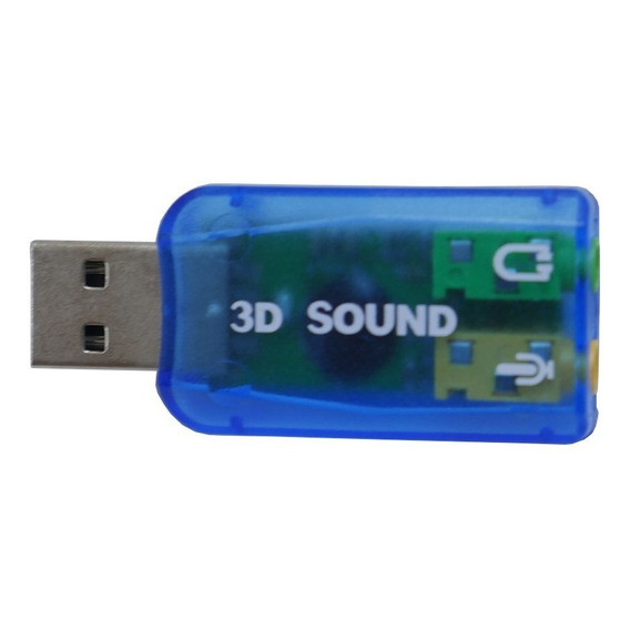 Placa De Sonido Usb Externa Audio 5.1 Surround 3d Gtia
