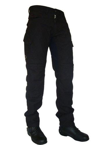 Calça Jeans Motociclista Com Proteção Hlx Defender Preta
