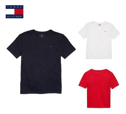 Camiseta Tommy Hilfiger Menino 2 A 12 Anos Envio Em 24h