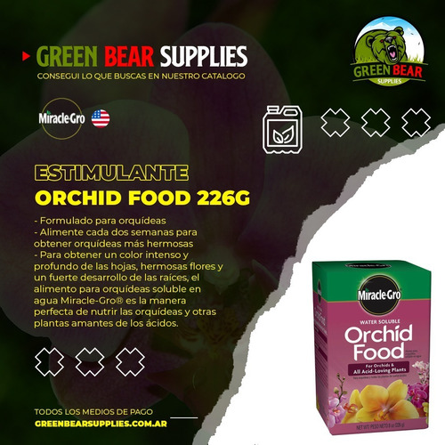 Miracle Gro Orchid Food 226 Grs.