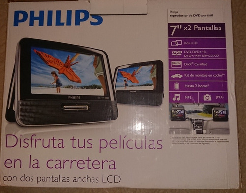 Reproductor De Dvd Portátil 7 X 2 Pantallas Philips