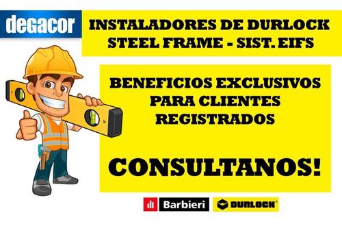 Placa Durlock 12.5 1.20x2.40 Mt Resistente Al Fuego Promat