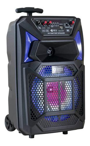 Parlante Oryx Mj-801 Portátil Con Bluetooth Negro 220v