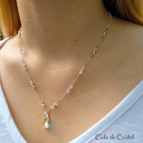 Collar Cristal Swarovski Elements ® Y Plata 925.