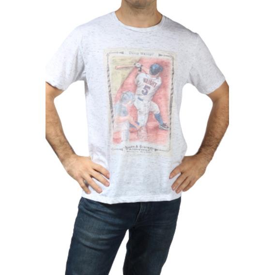 Remera Jockey Manga Corta Melange De Hombre Estampada