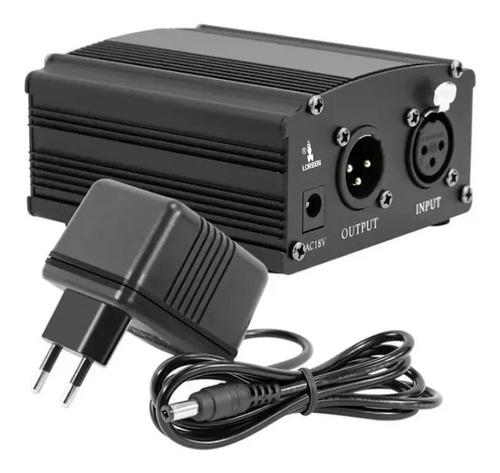 Phantom Power Fonte 48v Cabo Xlr Microfone Lorben 110v