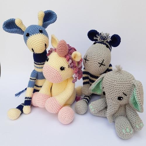 Juguetes Bebé Apego Crochet Animalitos Peluches Tejidos