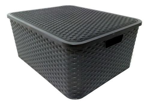 Caja Organizadora Simil  Rattan Grande  Xl Pack Por 3 Oferta
