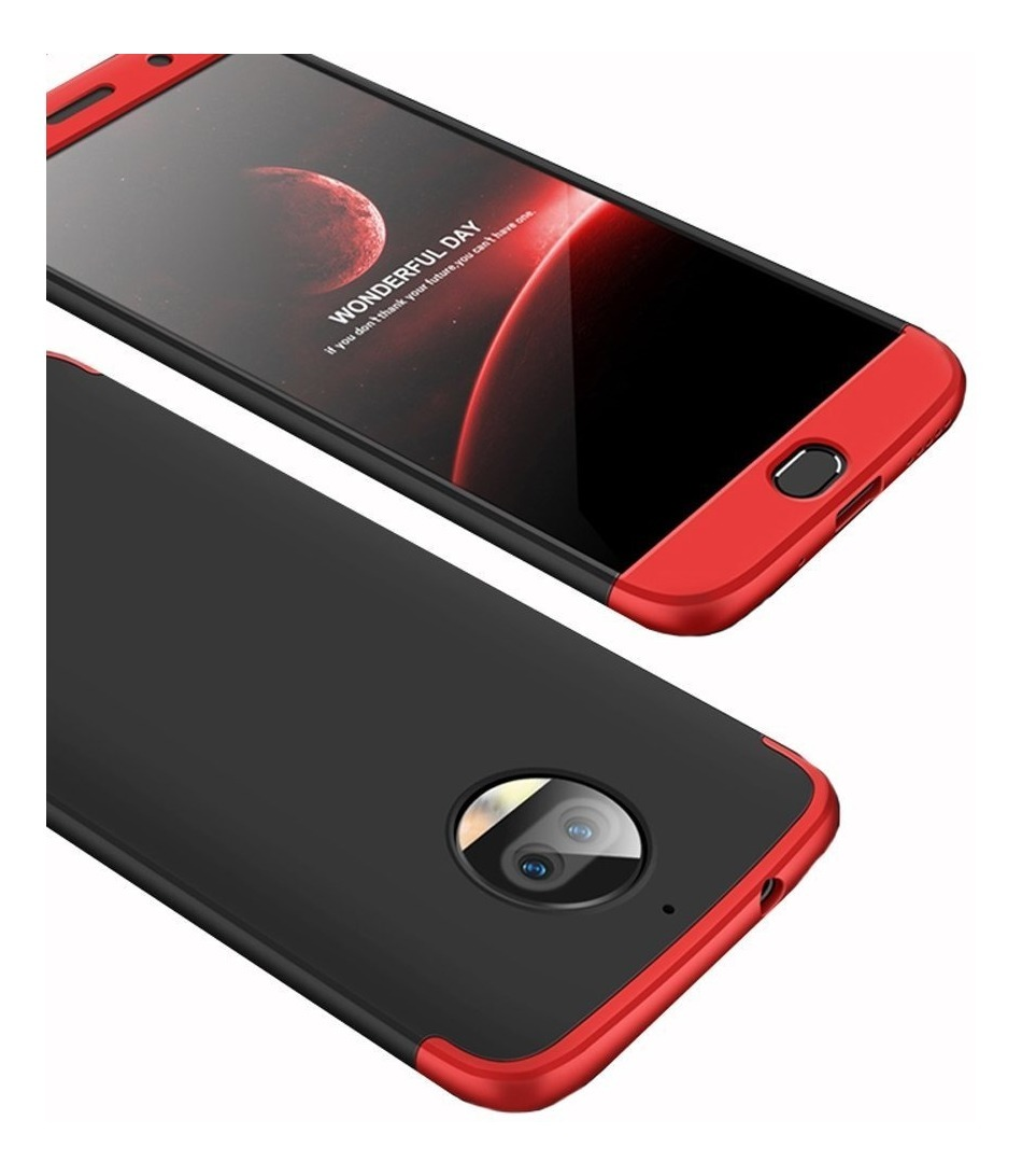 FUNDA 360 LUXURY MOTO G6 TERRACOTA (ROJO Y NEGRO)