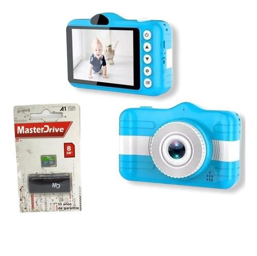 Câmera Fotográfica Infantil Foto E Video + C Memória 8gb