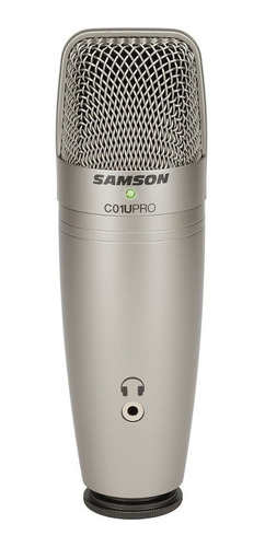 Micrófono Samson C01u Pro Condensador  Supercardioide Plateado