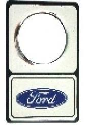 Protetor Fechadura Ford Resinado Prata - 2 Unidades Original