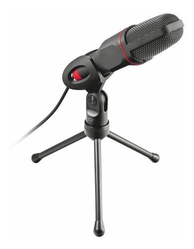 Microfone Trust Gxt 212 22191 Omnidirecional Preto