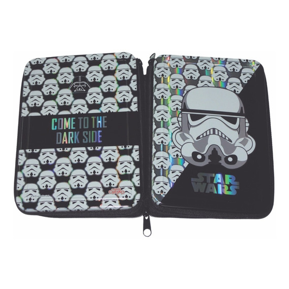 Cartuchera Star Wars 2 Pisos Tapas Lata Trooper Mundo Manias