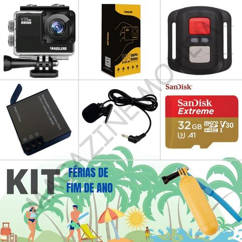 Kit Férias De Fim De Ano V39/4k+ctrl+mic+bat+sd32gb + Bastão