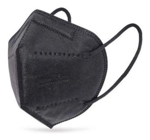 Máscara Preto Kn95 5 Camadas  100% Proteção