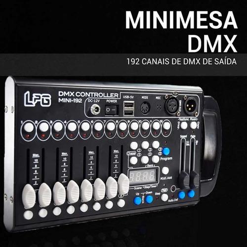Mesa Dmx Mini Lpg 192 Cenas Dmx512 Bivolt