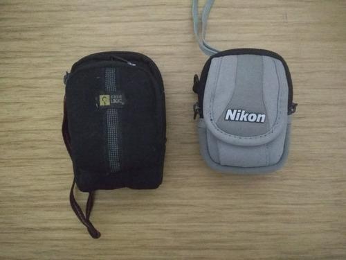Máquinas (2) Fotográficas Câmeras Nikon & Olympus, Leia