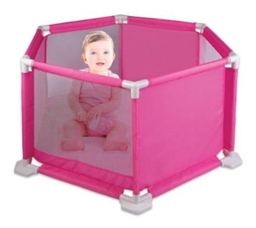 Cercado Chiqueirinho Rosa Para Bebês Cercadinho C/tapete Eva