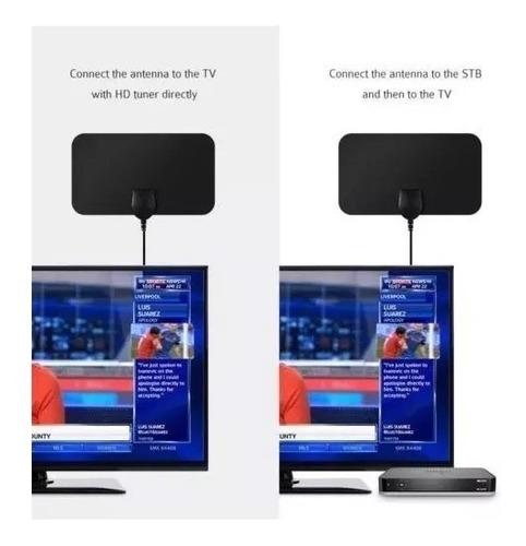 Antena Tdt Televisión Digital Ultra Delgada Amplificado