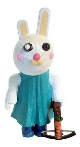 Bunny Piggy Roblox Figura Impresa 3d Pintada A Mano 11 Cm