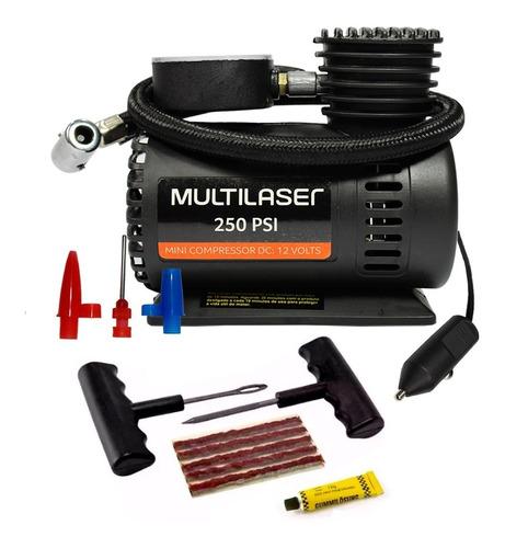 Mini Compressor De Ar Automotivo 12v Reparo Pneu Sem Câmara