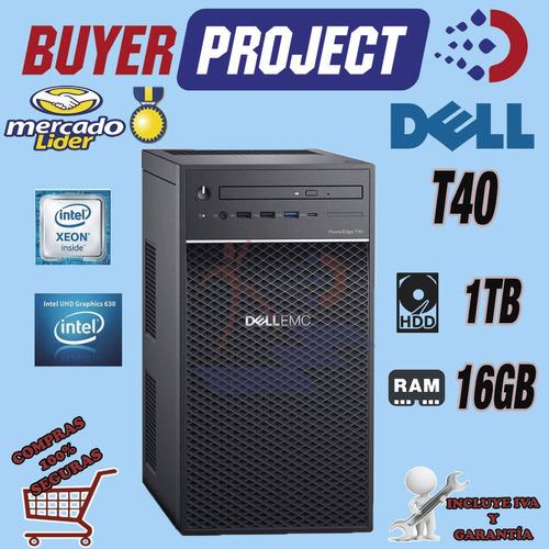 Servidor Dell Poweredge T40 Intel Xeon Quad Core 16gb 1tb