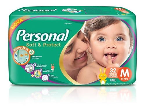 Fralda Personal Soft&protect Jumbo Tamanho M 32 Unidades