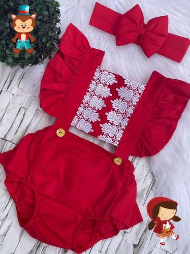 Conjunto Body De Bebê Menina Infantil Super Luxo Princesas