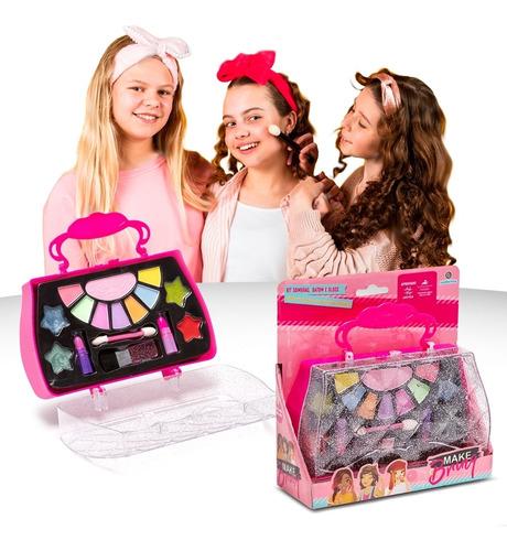 Maquiagem Infantil Maleta Sombra Gloss Batom Pincel - Anvisa