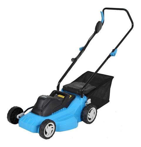 Cortadora De Pasto Eléctrica Gamma Máquinas G4944ar Con Bolsa Recolectora 1600w Azul Y Negra 220v