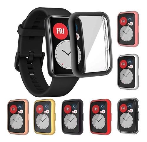 Case 360 + Protector Pantalla Para Reloj Huawei Watch Fit
