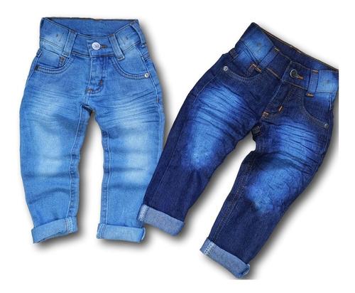 Kit 2 Calça Jeans Infantil Masculina Meninos Atacado