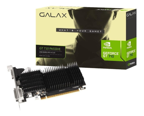 Placa De Vídeo Nvidia Galax  Geforce 700 Series Gt 710 71gpf4hi00gx 2gb
