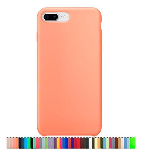 Capa Capinha Silicone Compatível Com iPhone 7 Plus E 8 Plus