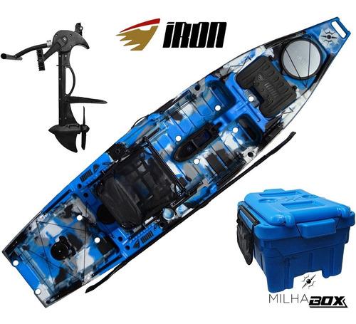 Caiaque Iron Milha Náutica + Pedal Evo Drive + Milha Box