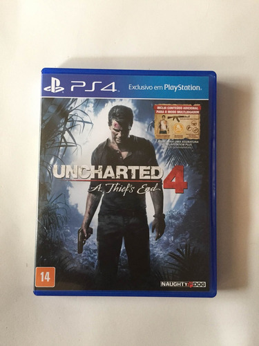 Jogo Unchartd 4 A Thiefs End Ps4 Exclusivo