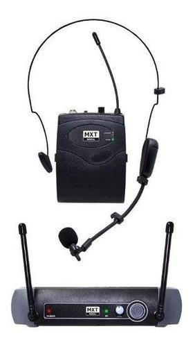 Microfone Sem Fio Mxt Uhf-10bp Dinâmico  Direcional Preto
